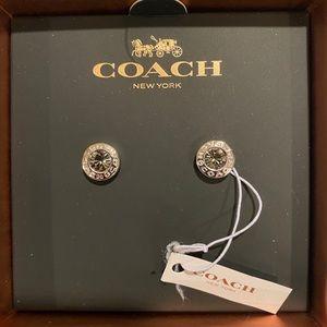Sterling Silver Coach Earrings
